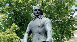 Stor staty av man