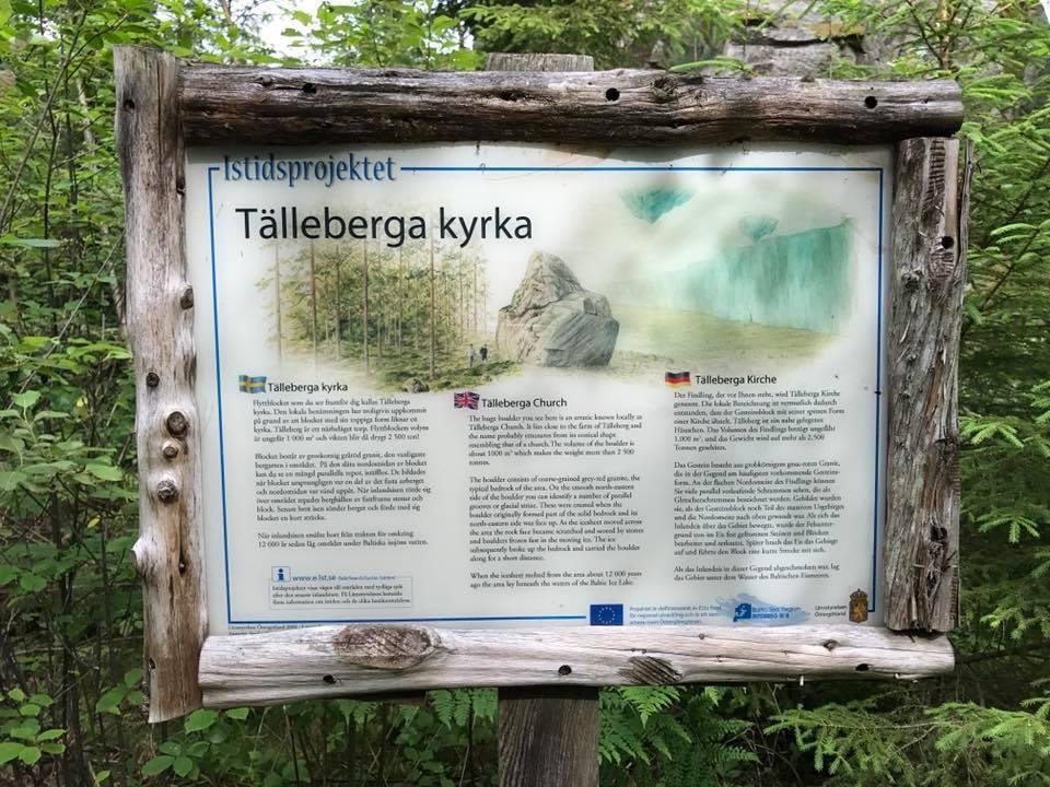 Informationsskylt Tälleberga kyrka