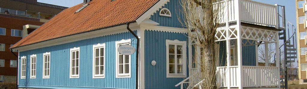 Ett blått hus